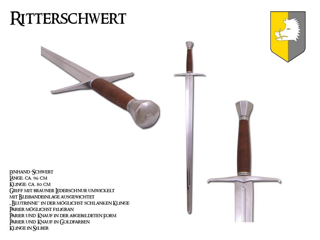Reichsritter: Ritterschwert und Mordaxt