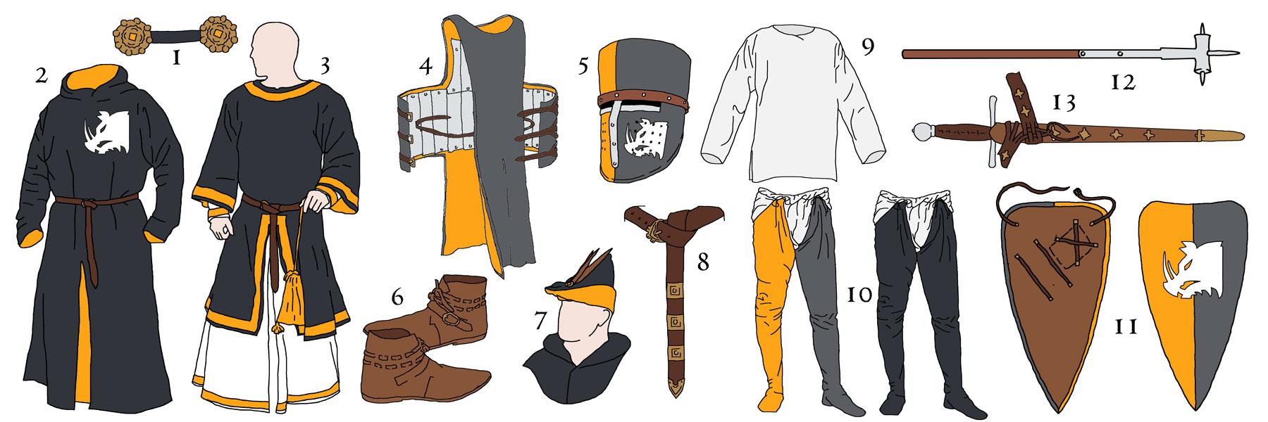 Reichsritter : Kleidung- und Ausstattungspläne 2015