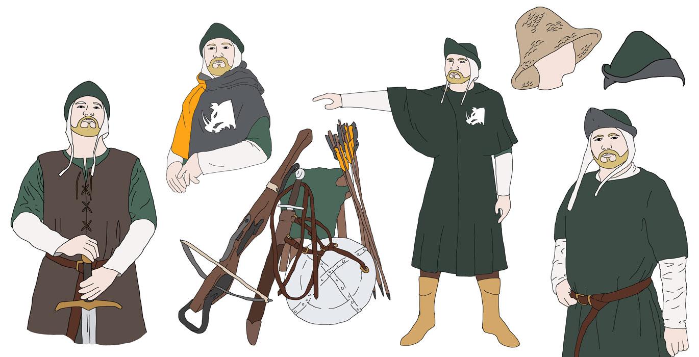 Bernulfs erstes Kleidungskonzept