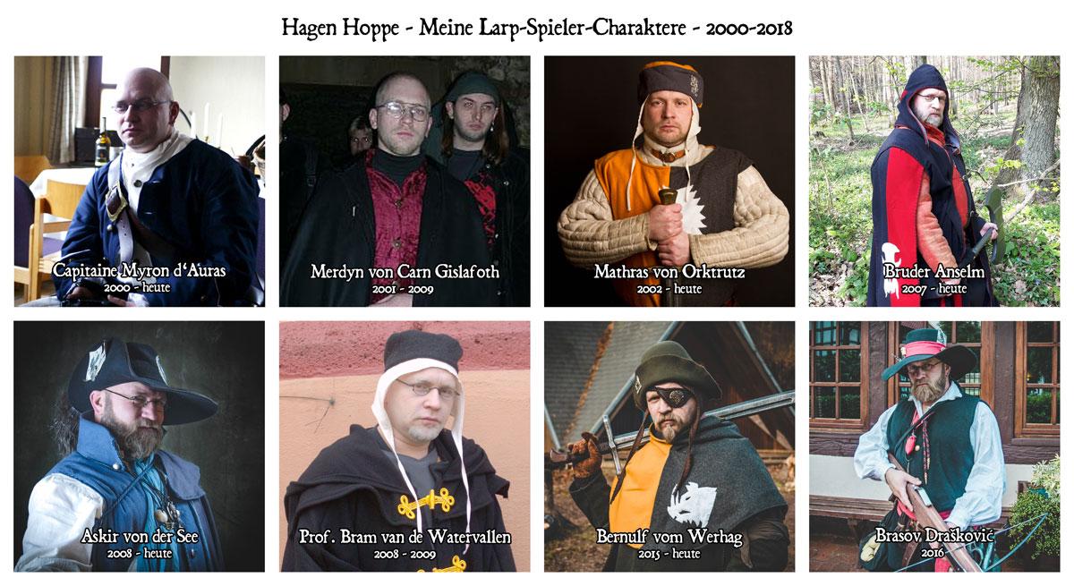 Meine Larp-Spieler-Charaktere 2000-2018