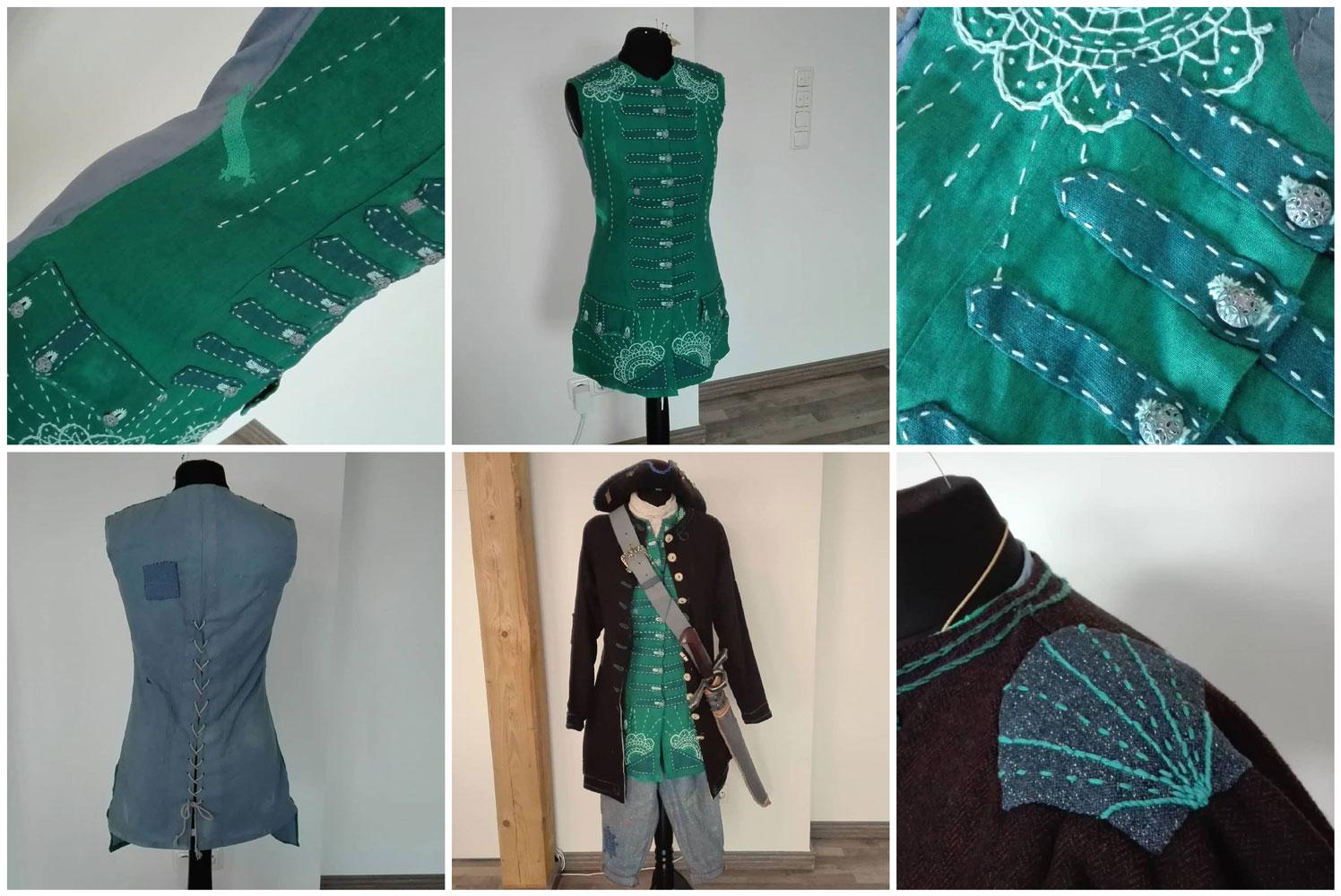Dekorative Seefahrerkleidung als Inspiration